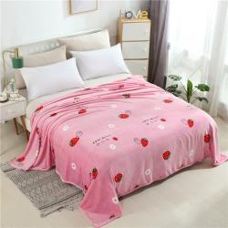 爱她美家纺 250g云貂绒毛毯 草莓