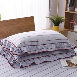 (总)硕蝶家纺 韩版双边单品枕套一对
