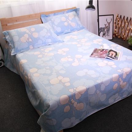 米亚家纺 棉麻空调软凉席(带包装)相思叶-蓝