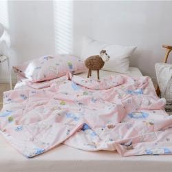 拾月家纺 2019新款全棉卡通夏被 午睡猫