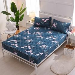 夹棉床笠 纯棉床笠席梦思保护套床垫套 床笠定做-爱的约定