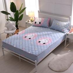 夹棉床笠 纯棉床笠席梦思保护套床垫套 床笠定做-笨笨熊
