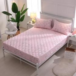 夹棉床笠 纯棉床笠席梦思保护套床垫套 床笠定做-花满枝头