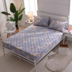 夹棉床笠 纯棉床笠席梦思保护套床垫套 床笠定做-鸟语花香