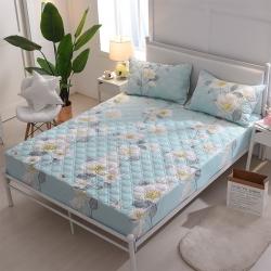 夹棉床笠 纯棉床笠席梦思保护套床垫套 床笠定做-清水芙蓉