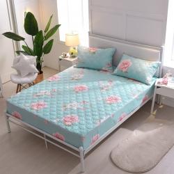 夹棉床笠单件 纯棉床笠席梦思保护套床垫套 床笠定做-清新花语
