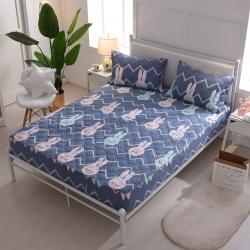 夹棉床笠 纯棉床笠席梦思保护套床垫套 床笠定做-小兔子