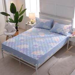 夹棉床笠单件 纯棉床笠席梦思保护套床垫套 床笠定做-银杏