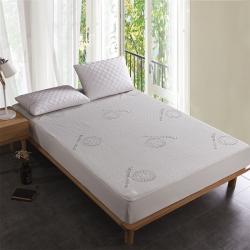 福巢家纺ebay跨境外贸防水床笠有机棉提花席防水床笠欧美尺寸