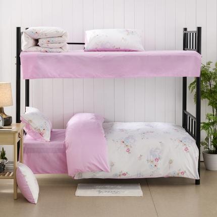 全棉大学生三件套纯棉学校宿舍上下铺被褥子多件套床垫0.9米床