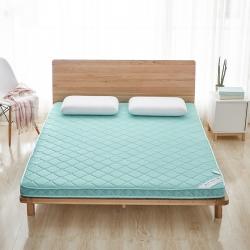 美真家纺 2018新款4D透气床垫 6厘米素色水绿色