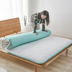 美真床垫 2018新款针织透气双面床垫 水绿色