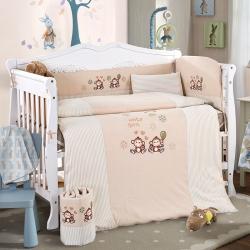 凯芙兰 彩棉儿童被床围多件套 机灵猴