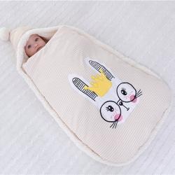麥吻 2018新款彩棉抱被  兔子