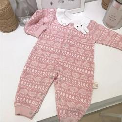 (总)凯芙兰 婴儿连体衣纯棉长袖闭档哈衣秋冬季保暖新生儿衣服