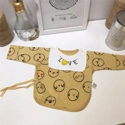 (总)凯芙兰 秋季新生儿针织半背衣宝宝和尚服睡衣