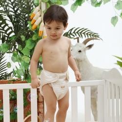 新生嬰兒尿布褲寶寶尿布兜彩棉防漏隔尿褲防水布尿褲透氣可洗四季