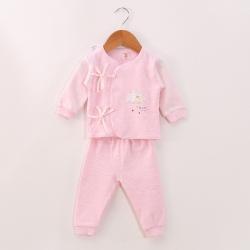 凯芙兰 婴儿新款舒棉系带两件套