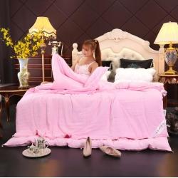 曼莎菲迩 水洗棉二合一子母被冬被夏被 粉色