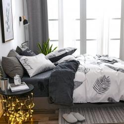 (总)室宜家居 a版全棉b版水晶绒棉加绒四件套水晶绒四件套