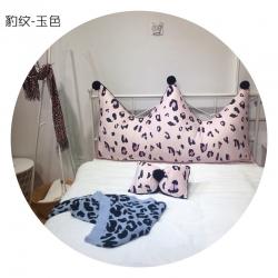 (总)双蒋家纺 2019新品豹纹皇冠抱枕
