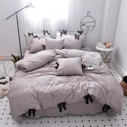 桔子家纺 2018新款(草莓女孩)四件套床单款卡其
