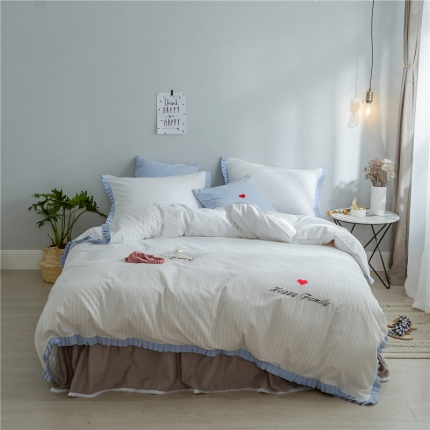 (总)桔子家纺 夏洛特系列全棉磨毛拉绒六件套床笠款实拍