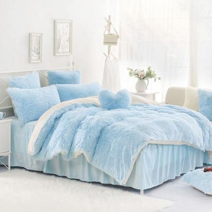 (总)桔子家纺 水貂绒四件套床单款