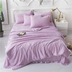 AWM家纺  可装被芯夏被四件套 小雏菊-紫