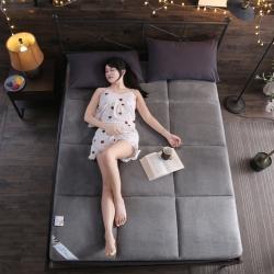首愛家紡 2018新款珊瑚絨床墊 灰色 床墊
