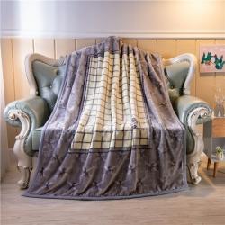 (总)慕莎家纺 双层儿童云毯法莱绒毛毯1.5米童毯毯外贸毛毯