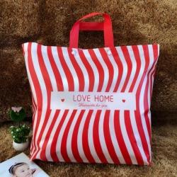九二包装新款精美夏被凉席包装袋58x48x11条纹红