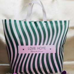 九二包装 新款精美夏被凉席包装袋58x48x11 条纹绿
