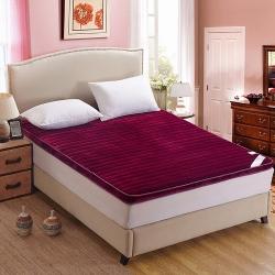艾尚枕芯 法莱绒立体床垫酒红色