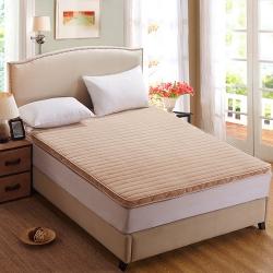艾尚枕芯 法莱绒立体床垫驼色