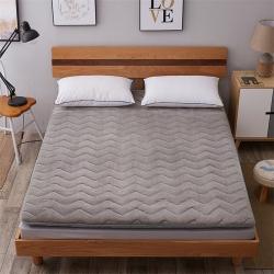 艾尚枕芯 加厚法莱绒绗绣床垫灰色