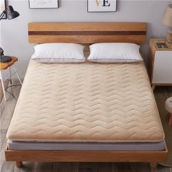 艾尚枕芯 加厚法莱绒绗绣床垫驼色