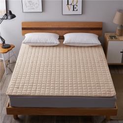 艾尚枕芯 磨毛水洗床垫_2.5cm厚驼色
