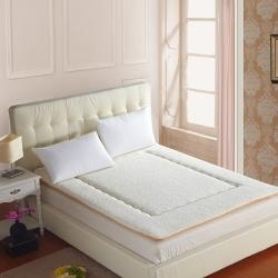 艾尚枕芯 羊羔绒床垫白色