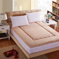 艾尚枕芯 羊羔绒床垫驼色