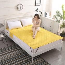 艾尚家居 全棉床垫可水洗鹅黄色
