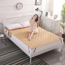 艾尚家居 全棉床垫可水洗驼色
