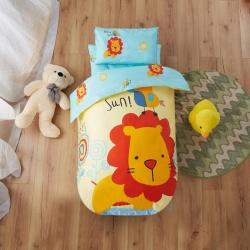 寶萊屋家紡 幼兒園套件 幼兒園被子三件套六件套 叢林獅子