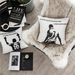 (总)宅社 2018新款北欧风帆布抱枕