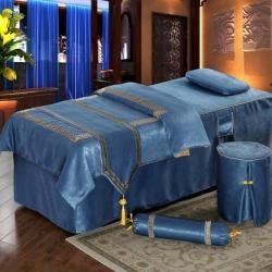 皇侨家纺美容床罩四件套高档按摩养生理疗艾灸会所单人带洞可定制