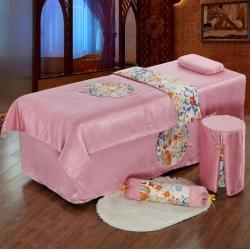 皇侨家纺美容床罩四件套送被芯高档按摩养生理疗艾灸会所洗头床