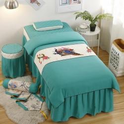 皇僑家紡2019新品美容床罩磨毛四件套歐式親膚舒適美容床罩