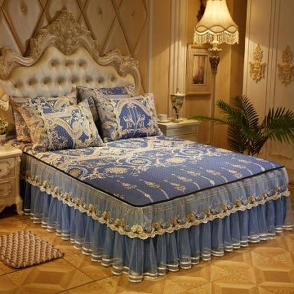 (总)好儿喜家纺  冰丝席凉席床裙韩式冰丝床裙
