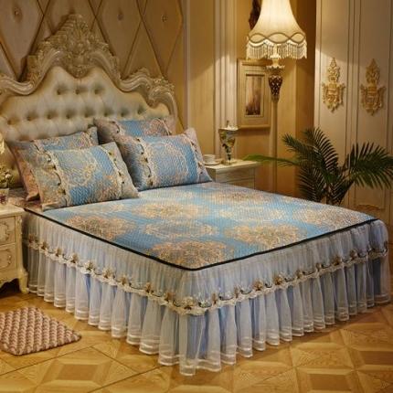 好儿喜家纺  冰丝席凉席床裙韩式冰丝床裙韩式-凝香
