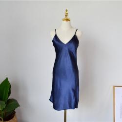 Rachel Home 2018新款純色吊帶裙 藍色